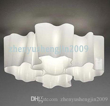 Luminarias de techo Logico Lounge Living Lámpara de techo lámparas de cristal de leche 4 cabezas twist lamp sombra cuádruple lámpara de techo anidada