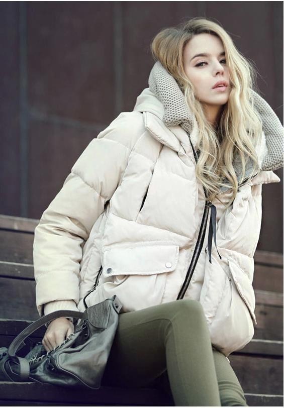 Mayor-Libre envío 2015 nuevo de las mujeres de invierno pato abajo cubre el vestido casual yardas grandes gruesa abajo chaqueta corta Párrafo del tamaño XS-XXL