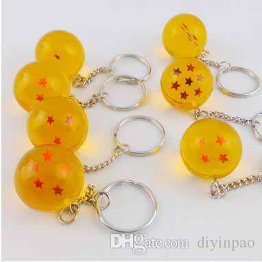 Wholesale Creative Gift Gragon Ball Key Chain Japanese Cartoon Anime Toys Party Favor Key Ring Novelty Children's Toys Gragon Ball