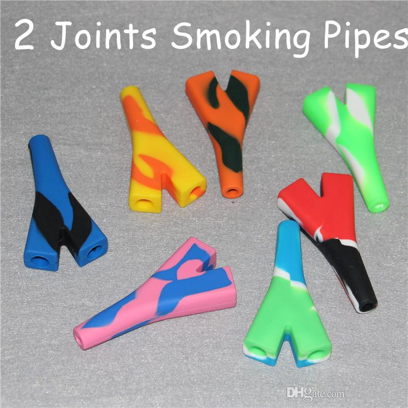 Mini Silicone Cigarette Filter for Dry Herb Tobacco Rolling Papers With Tobacco Cigarette Holder Pyrex Colorful Silicone Smoking Pipes