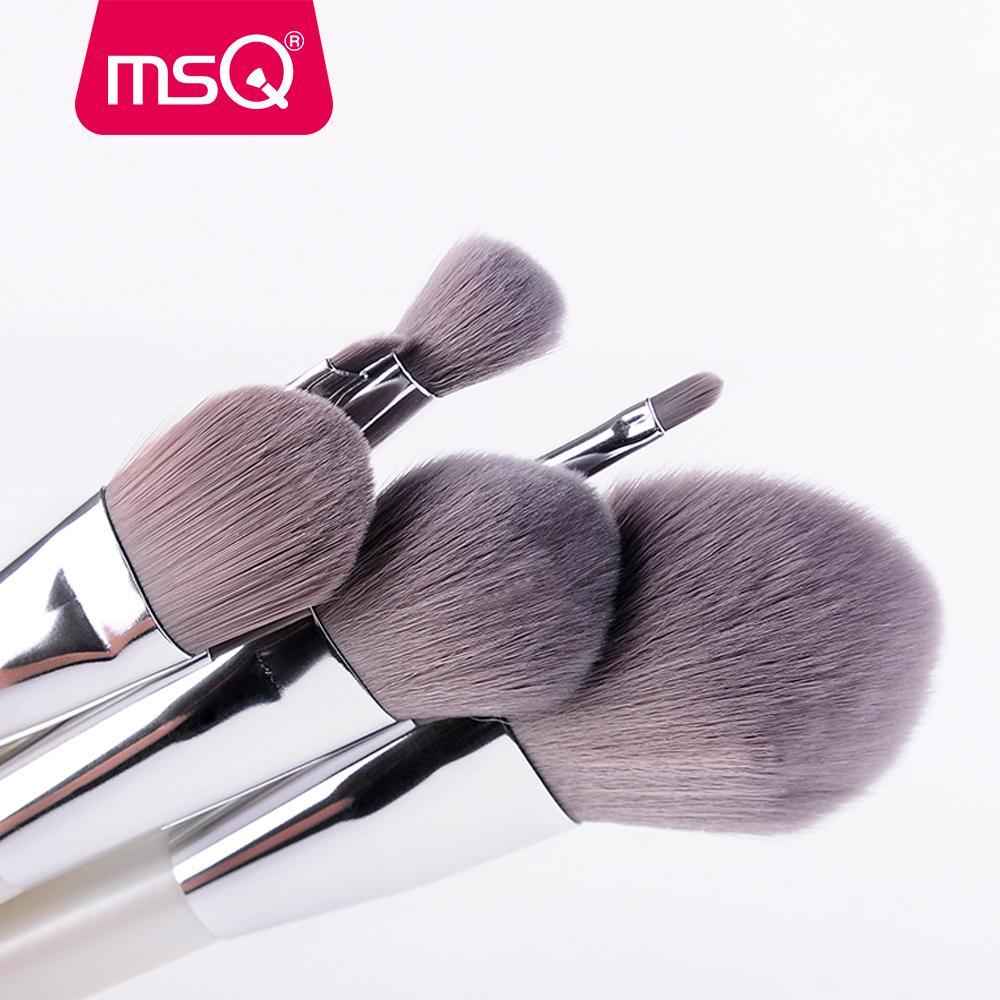 Pinceaux de maquillage Set de cheveux synthétiques Portable Make Up Brush Poignée courte 12 série Constellation avec boîtier magnétique Msq 6 pcs
