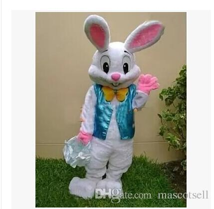 PROFESSIONAL EASTER BUNNY MASCOT COSTUME Bugs Rabbit Hare Adult Fancy Dress Cartoon Suit