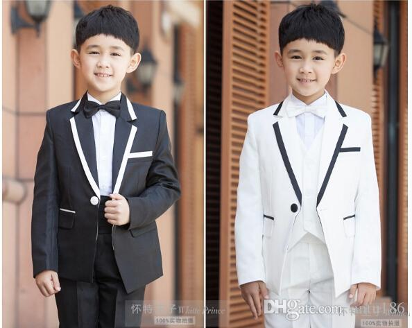 25486c945b632 Children Suit Boys Summer Fun Little Boy Coat Flower Child'S Clothing Suit  Men'S Suits Jacket+Pants+Vest Custom Made Wear For Kids Best Formal Clothes  ...