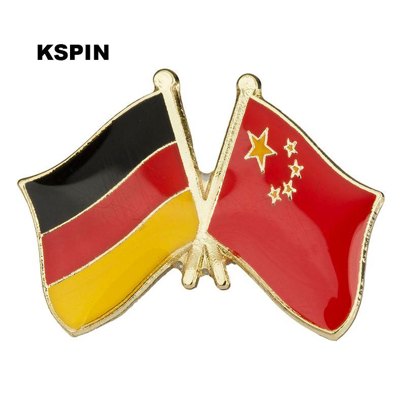 Германия Китай Знак дружбы Флаг Значок булавки KS2218