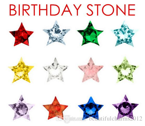 (120PCS ، 240PCS ، 480PCS) / الكثير 12 ألوان ستار كريستال احجار عيد الميلاد العائمة سحر لالمنجد قلادة المعيشة الزجاج المغناطيسي