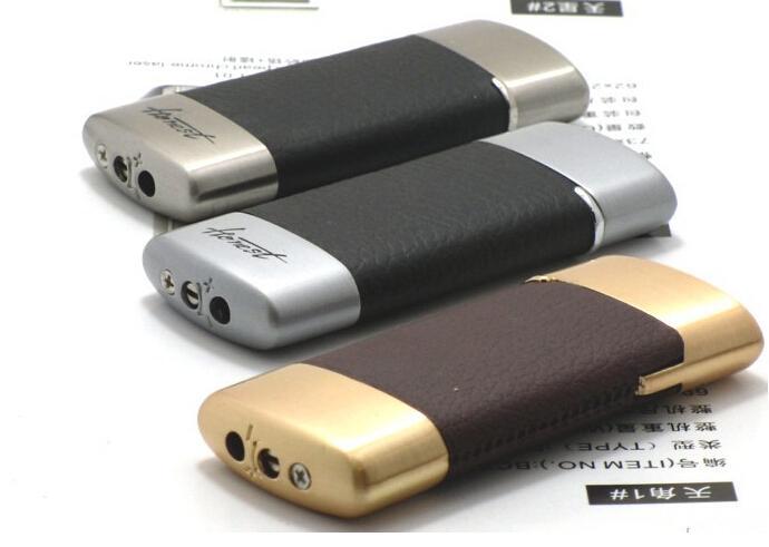 Honest genuine lighters gas lighter USB lighters windproof cigarette lighter wheel flame lighter leather BCZ307-2