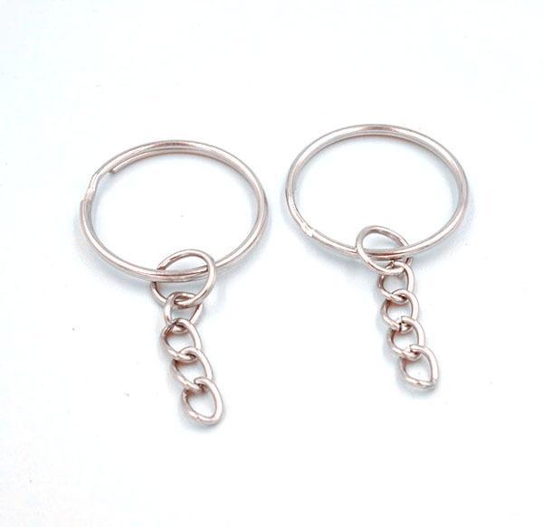 50 قطع الساخن بيع مفتاح سلسلة حلقة رئيسية مع وصلة سلسلة 1.4 * 25 ملليمتر chaveiro llaveros المفاتيح لمفاتيح portachiavi AGK-86