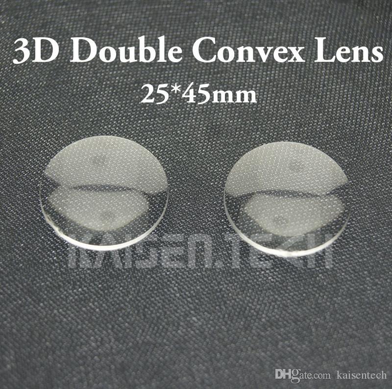 Google Karton objektif 3D VR Gözlük lens DIY toptan 100pcs / lot Yeni Yüksek kaliteli akrilik 25mm Çap 45mm odak çift Konveks Lens