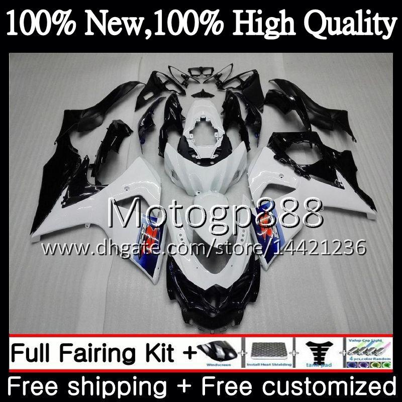SUZUKI 용 페어링 차체 광택 광택 흰색 GSX-R1000 GSXR 1000 09 10 11 12 13 15 33PG3 GSX R1000 K9 GSXR1000 2009 2010 2011 2012 2014 2015