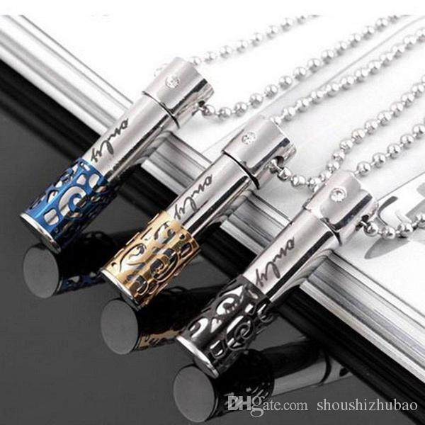 1pc « Only Love » 316L Bijoux Crémation en acier inoxydable pendentif en cristal Collier Keepsake