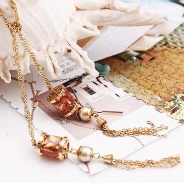 Ожерелье с подвесками замечательные хрустальные кисточки (60см) (myyhmz)