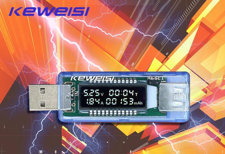 OLED 3V-9V 0-3A Mini USB-oplader Power Detector Batterijcapaciteit Tester spanningstroom Meter Geschikt voor fabrieken, laboratoria en perso