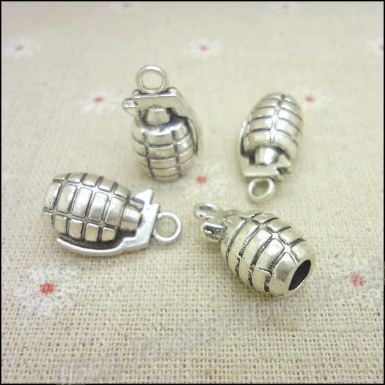 Fabbricazione adatta dei monili del metallo di DIY della collana dei braccialetti del pendente della granata di fascini d'argento antico libero di trasporto 30pcs