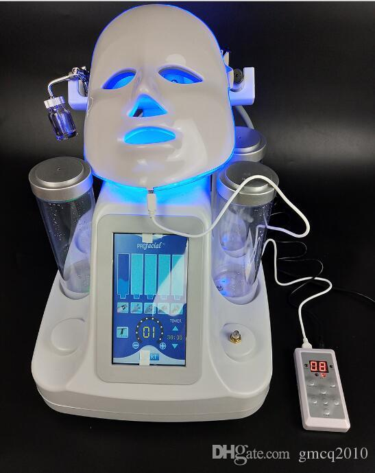 7 in 1 hydra facial water dermabrasion skin deep cleansing 7 colors LED mask machine