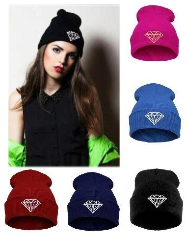 Fashion Designer Knitted Brim Acryic Beanie Diamond Embroidery Skull Winter Hats Hip Hop Warm Caps For Mens Womens Skull Sports Head Warmer