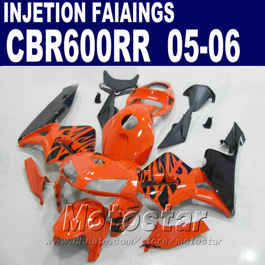 Enjeksiyon kalıplama turuncu uygun parçalar HONDA CBR 600 RR kaporta 2005 2006 cbr600rr 03 04 cbr 600rr kaporta kiti wUCS