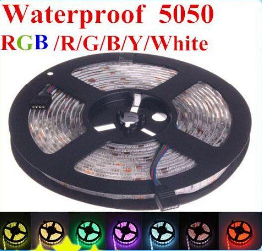 5X 5m Warm White SMD LEDS 5050 Waterproof  LED Strip B