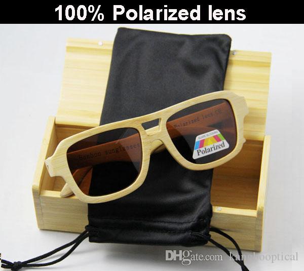 avaitor الجملة النظارات الشمسية الرخيصة الخيزران مع عدسة الاستقطاب LUB101