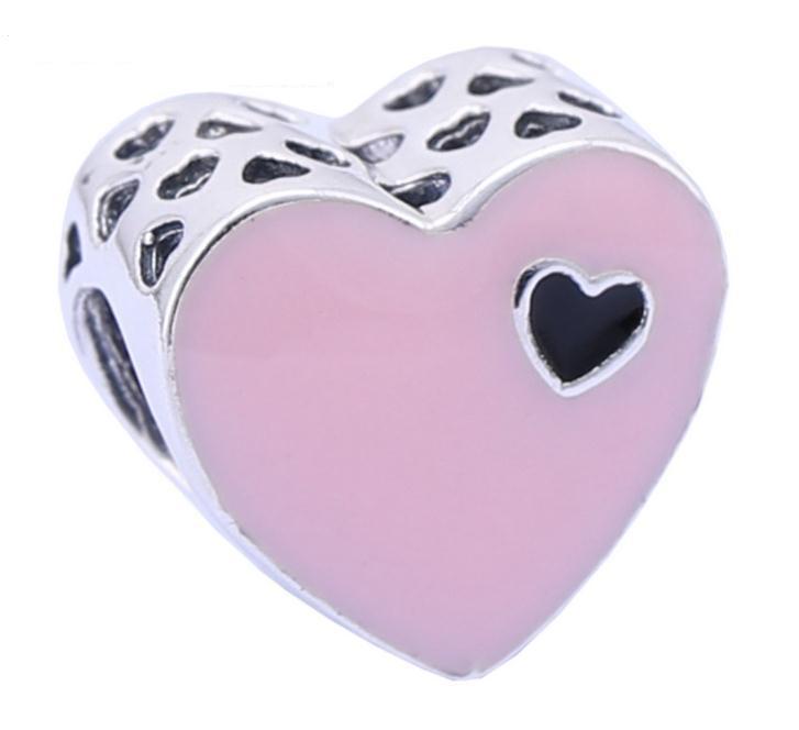 pandora charm cuore rosa