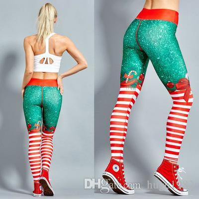2019 Sexy Christmas Yoga Women S Leggings 2018 Striped Print Sweatpants Active Long Pants Hot Sales New Arrival Pants From Huge1982 20 11