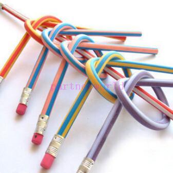 Pomotion! 100 PZ 20 PZ Novità Poco Costoso Prezzo Basso 18 cm flessibile flessibile flessibile divertente matita con gomma bambini rifornimento di scuola giocattoli regali premio