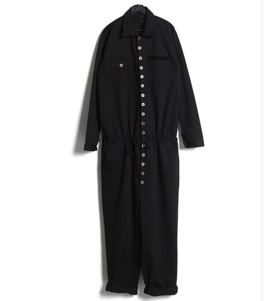 Macacões de moda casual dos homens han edição da nova primavera macacão pista parece conjunta calças tiras / personalizado