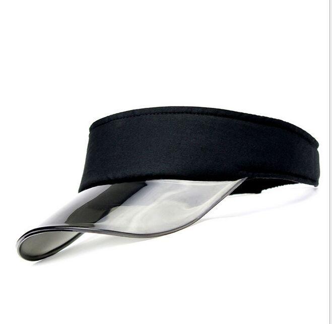 Novo Verão UV Plástico Visor Sun Hats Golf Homens Ao Ar Livre Lar Limpar Tennis Beach Hat Proteção Snapback Caps10pcs / lote