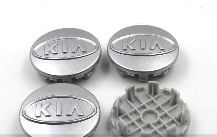 4 pz / lotto 59mm ABS argento cromato kia centro della ruota tappi coprimozzo auto distintivo emblema Cerato K2 K3 K5 per SOED OPTIMA SOUL SORENTO