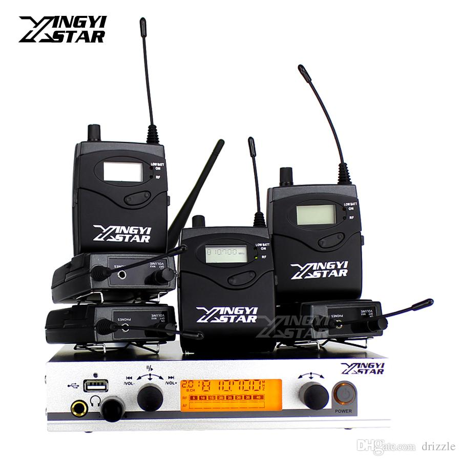 Wireless In Ear Monitor Professional Stage Monitoring System Six Bodypack Receiver With One Cordless USB Transmitter Monitors in Headphone
