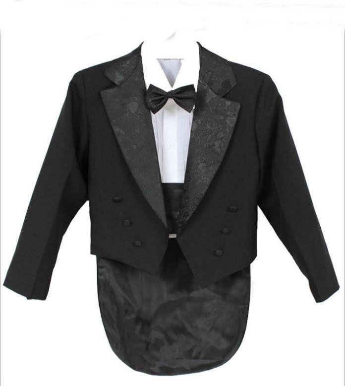 Elegant Kid Boy Wedding Suit/Boys' Tuxedo/Boy Blazers/Gentlemen Boys Suits For Weddings (Jacket+Pants+Tie+Girdle+Shirt)