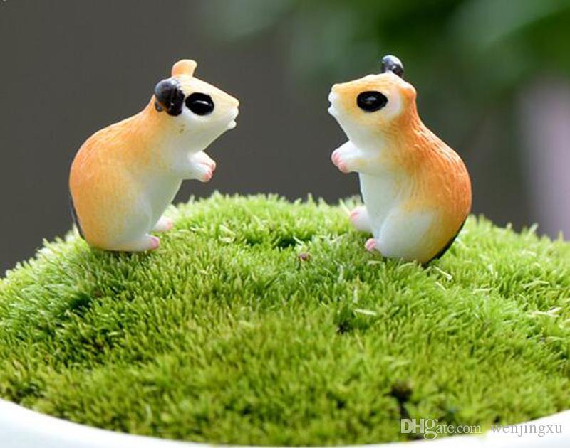 2020 Lovely Hamster Terrarium Figurines Animal Fairy Garden Decor