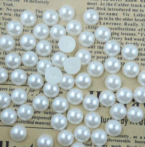 1000pcs Flatback Half Pearl Flat Back acrílico Pearl DIY Crafts Scrapbooking gratis 4 6 8 10 mm