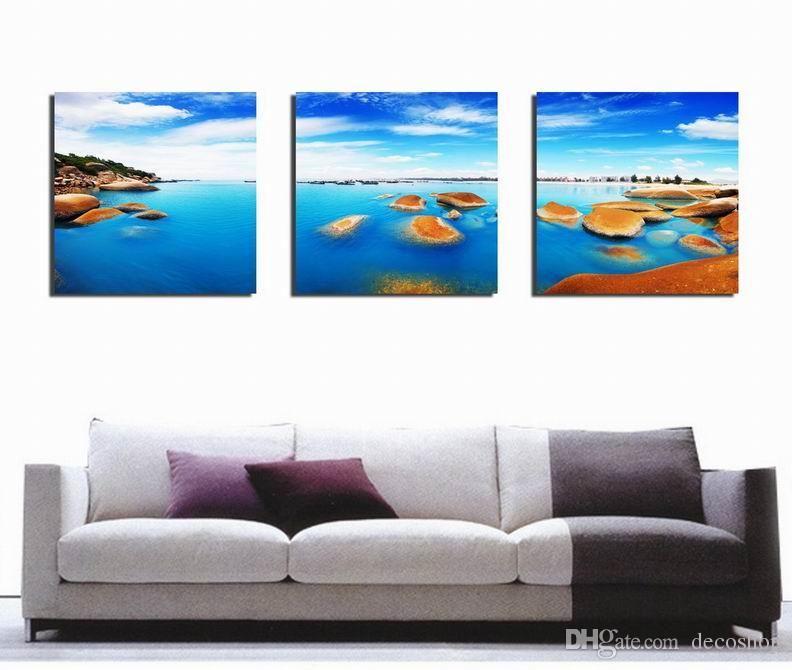 현대 아름다운 바다 일몰 그림 캔버스에 Giclee 인쇄 홈 장식 벽 예술 Set30326