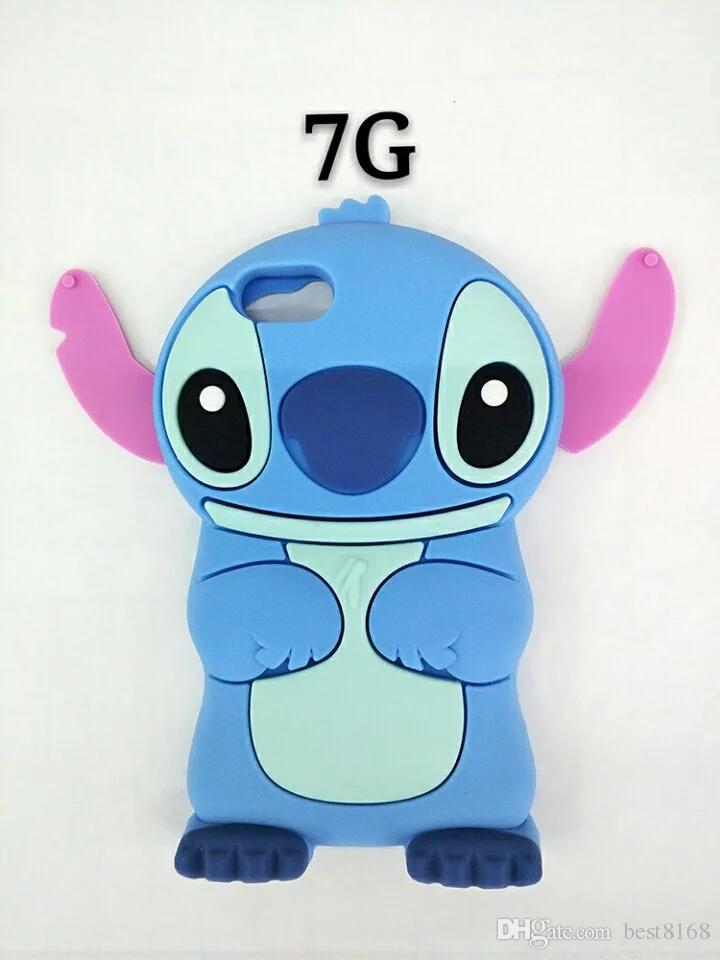 3D Stitch Lilo Soft Silicone Case For Iphone 7 4.7/Iphone7 7Plus 7 ...