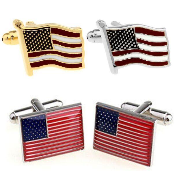 2017 bandiera USA gemelli 3 stili bandiera americana gemelli per camicia matrimonio gemelli padri regali spedizione gratuita