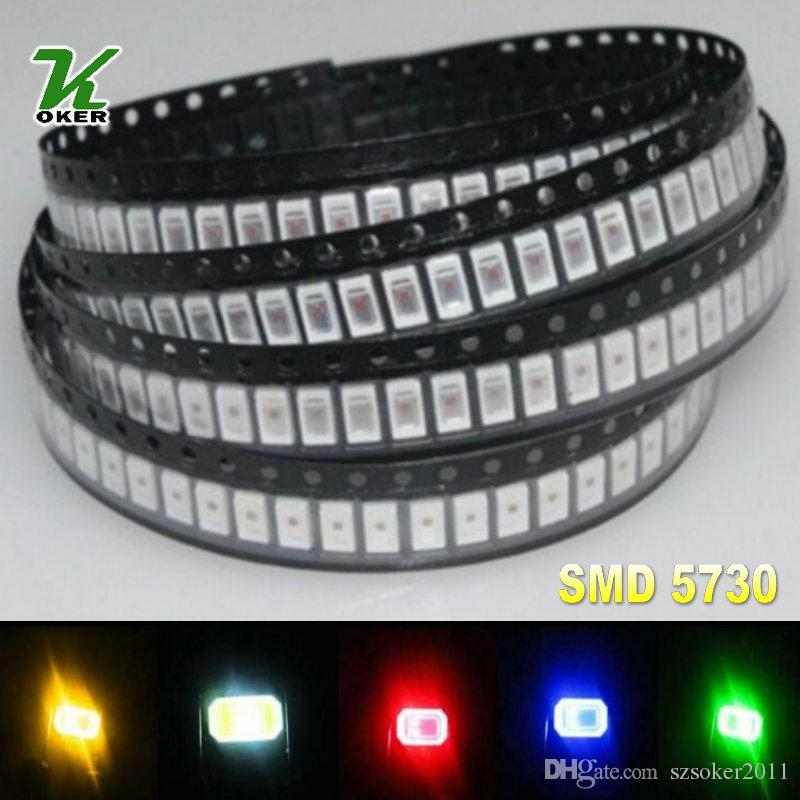 5color 1000PCS 0.2W SMD 5730 5630 화이트 레드 블루 그린 옐로우 LED 램프 다이오드 울트라 브라이트 SMD 5730 5630 SMD LED 무료 배송
