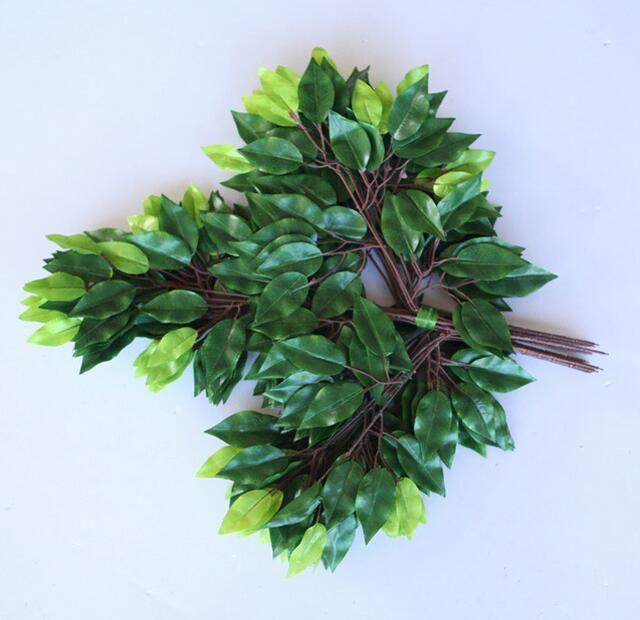 Impression de couleur ficus feuilles jardinage feuilles décoratives simulation de fausses branches vertes