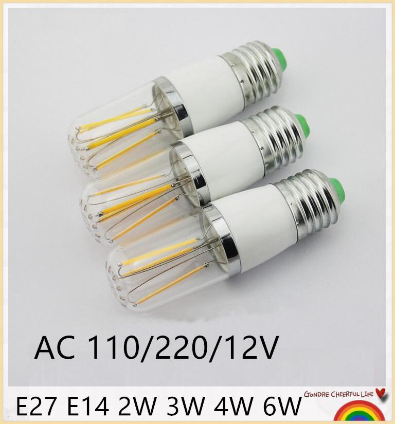 COB E27 AC 85V-265V LED لمبات 2W 3W 4W LED 6W COB لمبات الشعيرة مصباح الإسكان زجاج كوب الذرة الصمام E27 شمعة لمبات