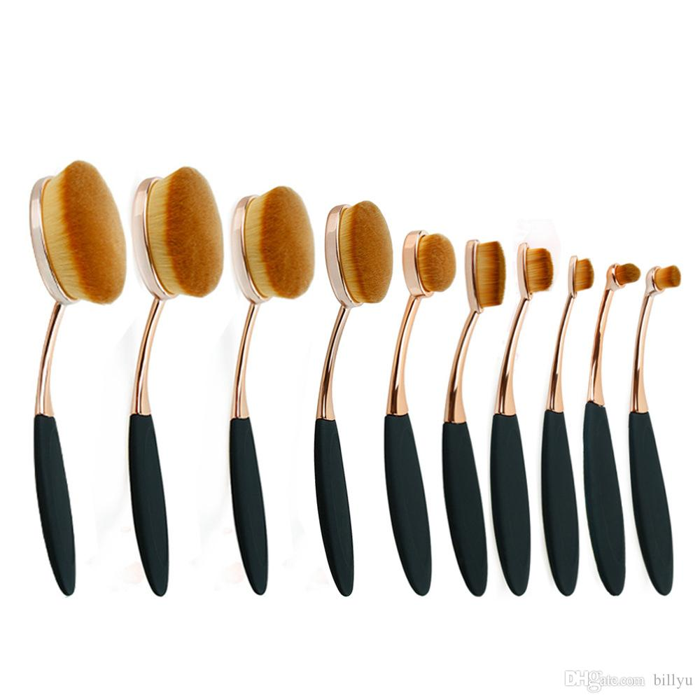 4f1bbf84e7d1 Oval Brush Set Rose Gold Oval Makeup Brush Set Toothbrush Shape Cosmetic  Brush Makeup Tools For Beauty Elf Brushes Makeup Products From Billyu, ...