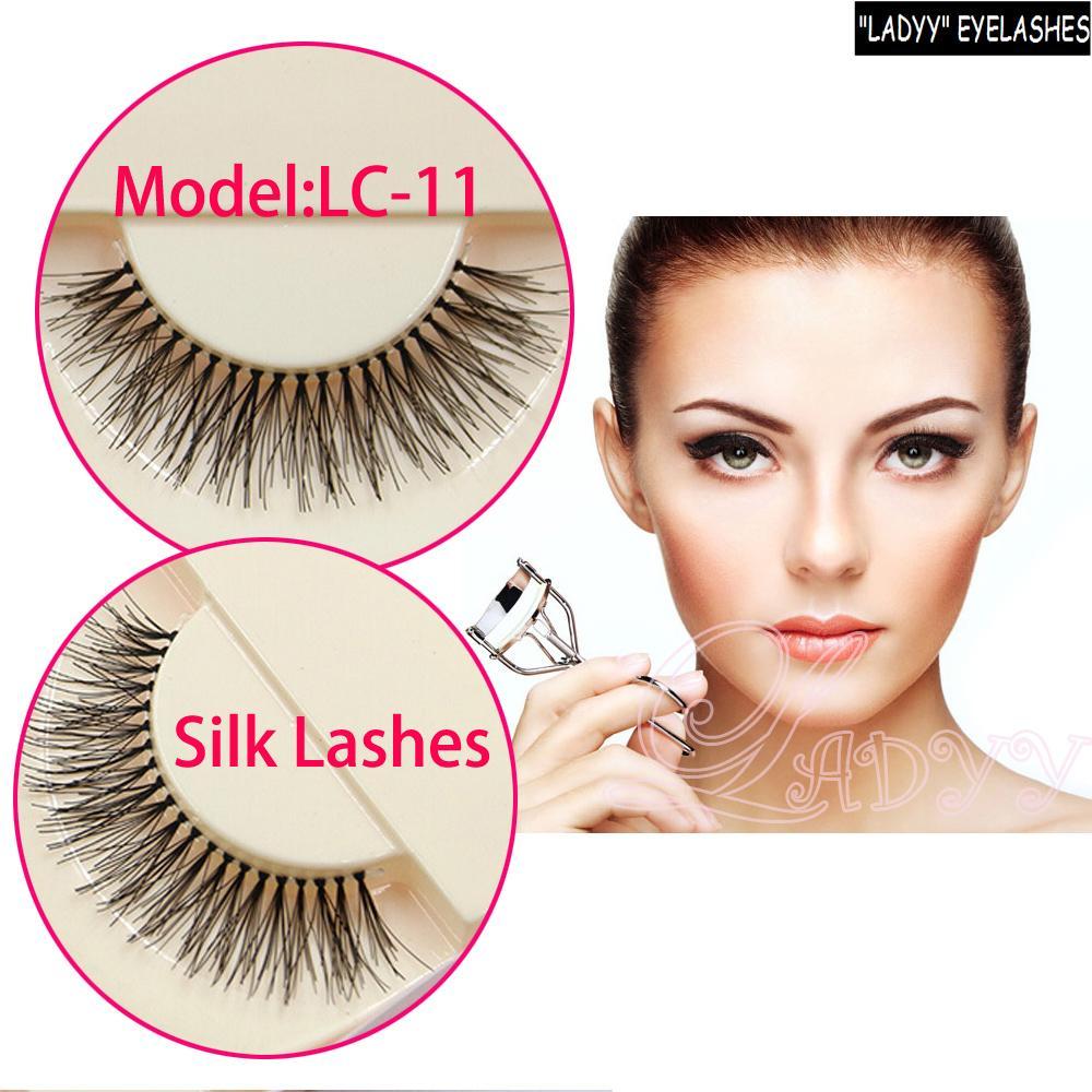 LC-11 747 faux Human Hair False Eyelash Fashion Lash Blink Black Strip Fake Lashes faux human hair false lashes Free shipping