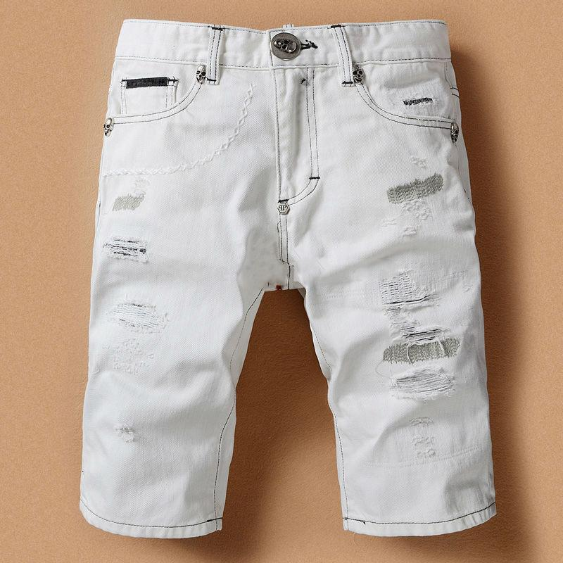 Men's Shorts Wholesaler Seavenusrainbows Sells White Denim Shorts ...