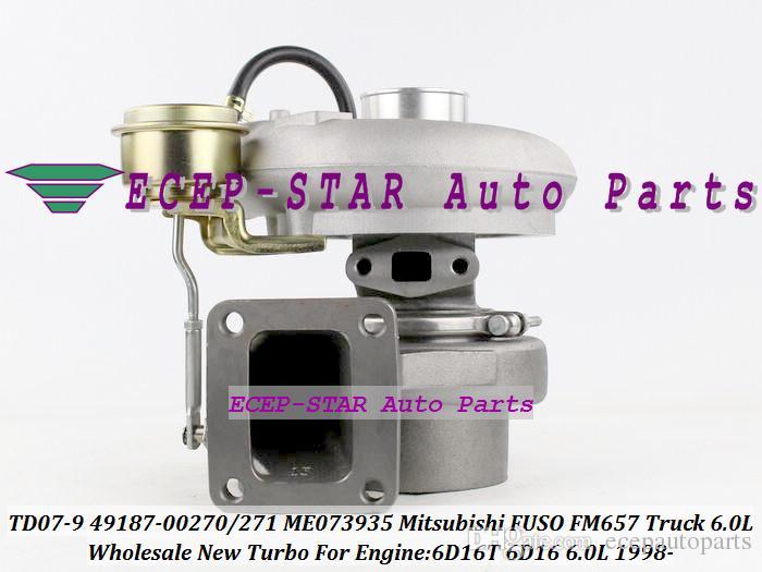 TD07-9 TD07 49187-00271 49187-00271 ME073935 4918700271 4918700270 Turbo Turbocharger voor Mitsubishi FUSO FM657 Truck 1998- 6D16T 6D16 6.0L