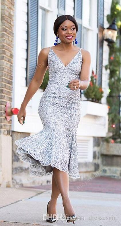Großhandel Elegante Silber Sequins 2017 Arabische Meerjungfrau ...