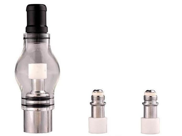 popular Bulb Atomizer Wax Glass dome glass globe attachment Pyrex Glass for eGo t Battery E Cigarettes Dry Herb Wax Vaporizer