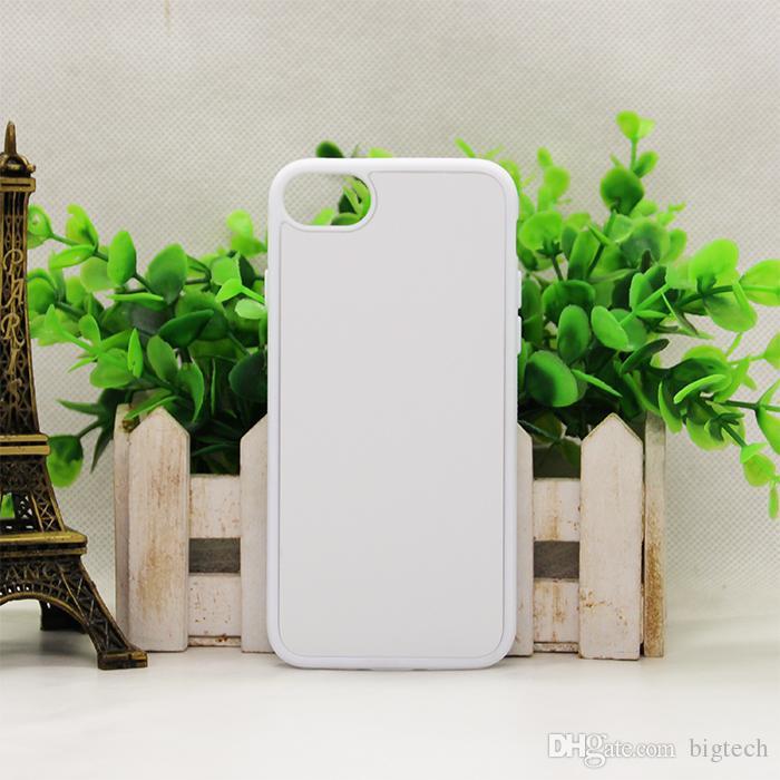 100pcs 2D dura del PC sublimazione casse del telefono per iPhone6 6plus 7 7plus con Blank inserto in metallo fai da te design alloggiamento della copertura posteriore