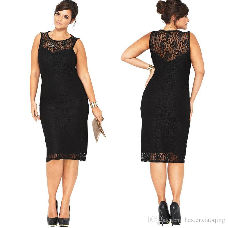 Little Black Cocktail Dress for Fat