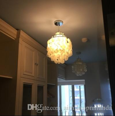 Modern brief fashion mini natural white shell chandelier lightings modern brief fashion mini natural white shell chandelier lightings chrome finished hotel living room office lights aloadofball Images