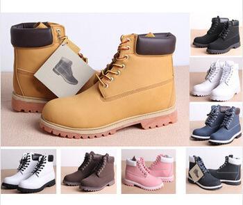 Botas de nieve negras clásicas amarillas 2016 Ventas destacadas Botas de Martin Calzado deportivo de hombre Zapatos de senderismo de cuero de piel de vaca 10061 Bota de hombre blanco clásico