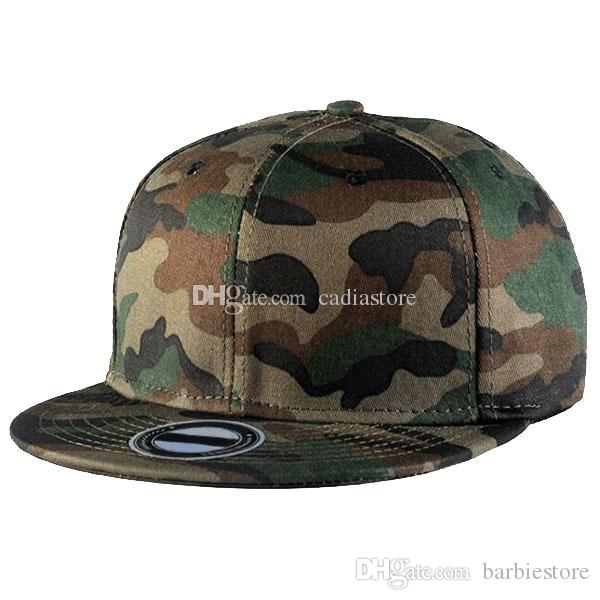 Kamuflaj Camo Düz Bill Beyzbol Şapkaları Pamuk Snapback Ayarlanabilir C00275 BARD
