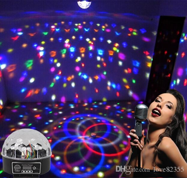 New 9 LED DMX 512 remote control Beautiful Crystal Magic Effect Ball light DMX Disco DJ Stage Lighting Play 110v - 240v